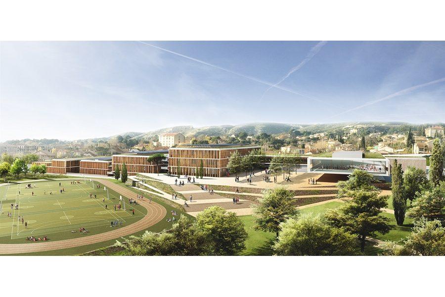 Leteissier Corriol - Agence d'architecture - Lycée de Saint Mitre Marseille 13