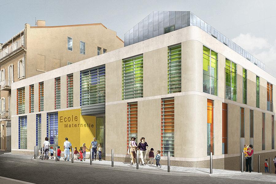 Leteissier Corriol - Agence d'architecture - Ecole Saint Vincent de Paul Marseille 13