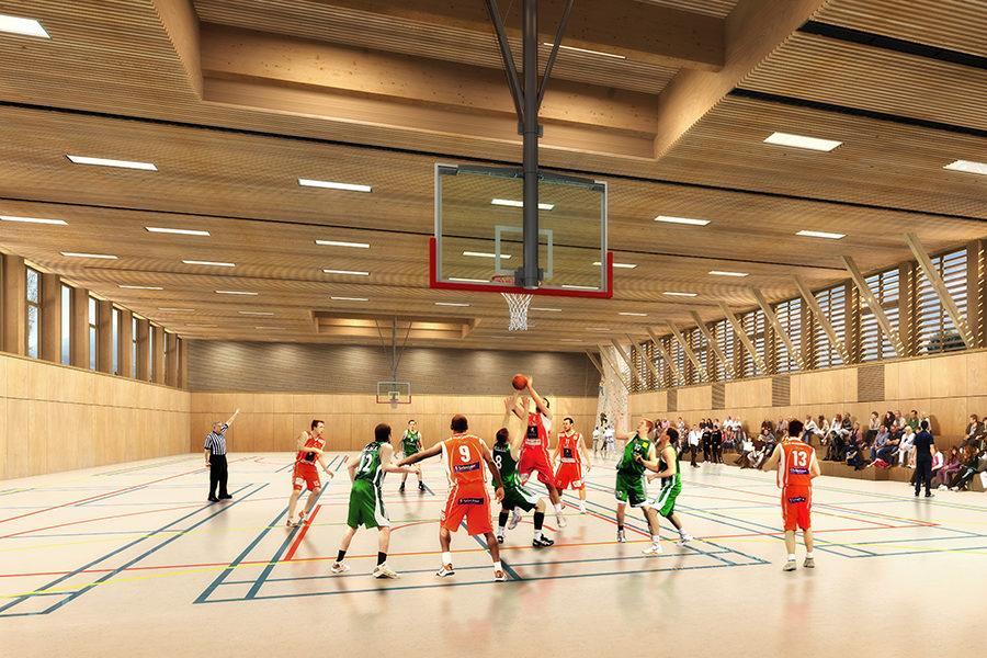 Leteissier Corriol - Agence d'architecture - Halle multisports Courthézon 84