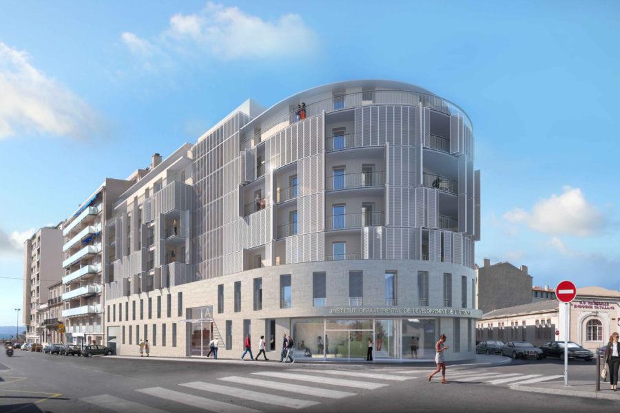 Leteissier Corriol - Agence d'architecture - Ensemble immobilier Marseille 13