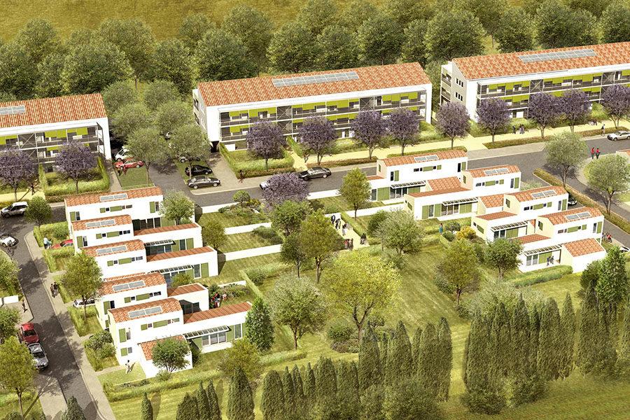 Leteissier Corriol - Agence d'architecture - 74 logements Saint Rémy de Provence 13