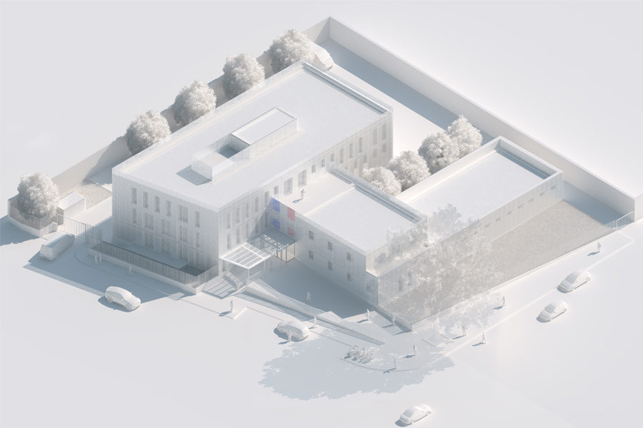 Leteissier Corriol - Agence d'architecture - Commissariat du dixième arrondissement Marseille 13