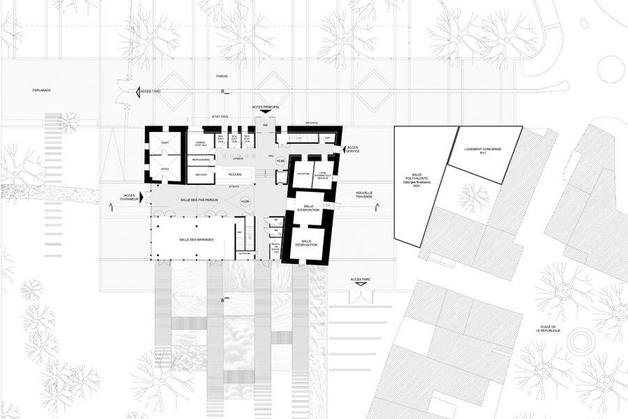 Leteissier Corriol - Agence d'architecture - Hôtel de ville Saint Victoret 13