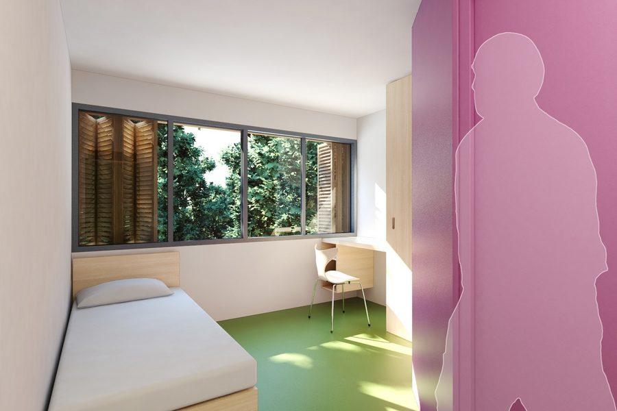 Leteissier Corriol - Agence d'architecture - Résidence étudiante (163 logements) Madagascar Marseille 13