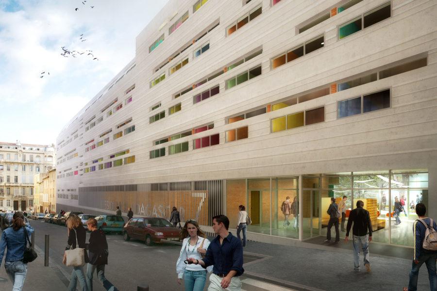 Leteissier Corriol - Agence d'architecture - Résidence Madagascar Marseille 13