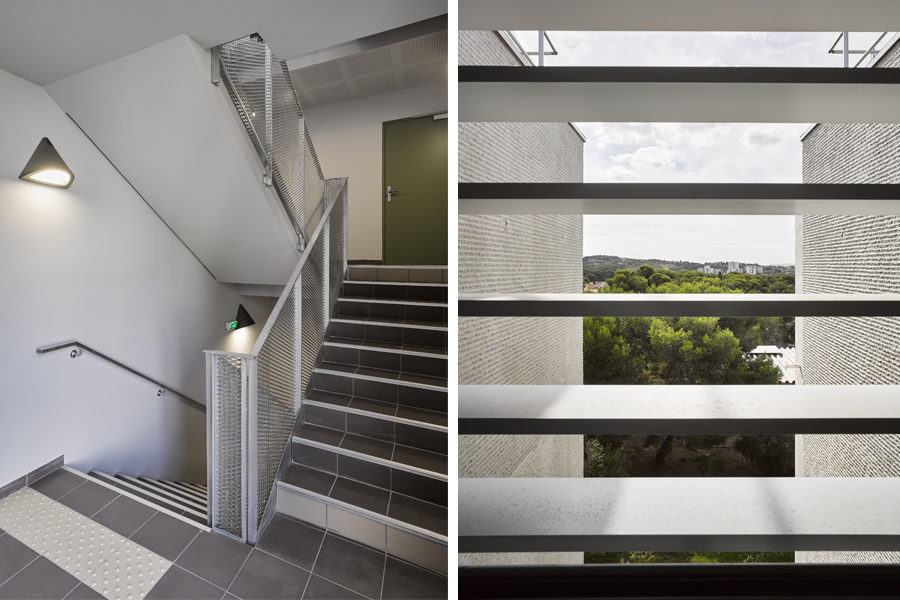 Leteissier Corriol - Agence d'architecture - 24 logements sociaux collectifs les Danaïdes Marseille 13