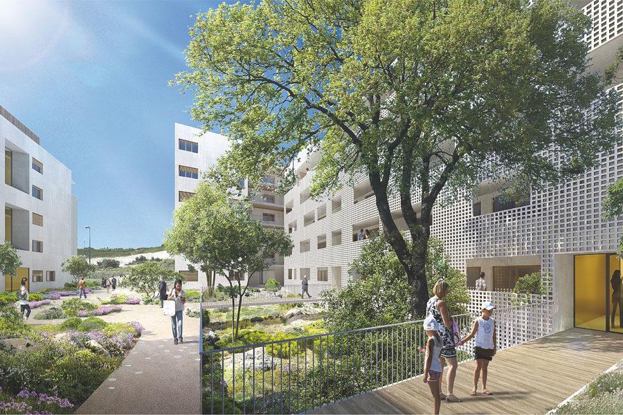 Leteissier Corriol - Agence d'architecture - 100 logements en conception-réalisation La Duranne 13