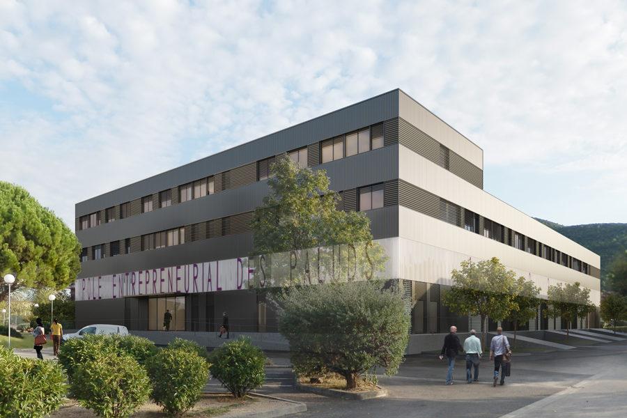 Leteissier Corriol - Agence d'architecture - Pôle entrepreneurial des Paluds Aubagne 13