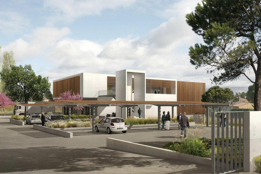 Leteissier Corriol - Agence d'architecture - Cuisine centrale Gardanne 13
