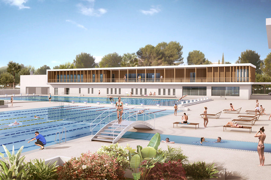 Leteissier Corriol - Agence d'architecture - Stade nautique Antibes 06