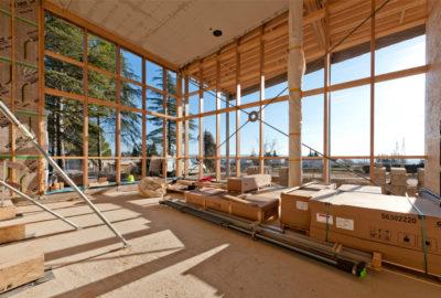Leteissier Corriol - Agence d'architecture - Avancement du chantier de l'Ecocampus de Sainte Tulle