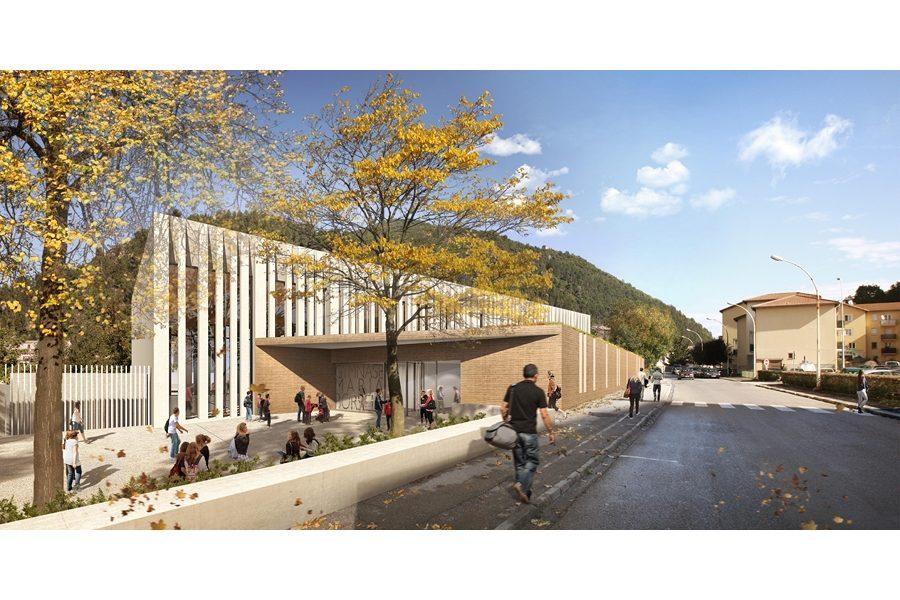 Leteissier Corriol - Agence d'architecture - Gymnase du collège Maria Borrely Digne-les-Bains 04