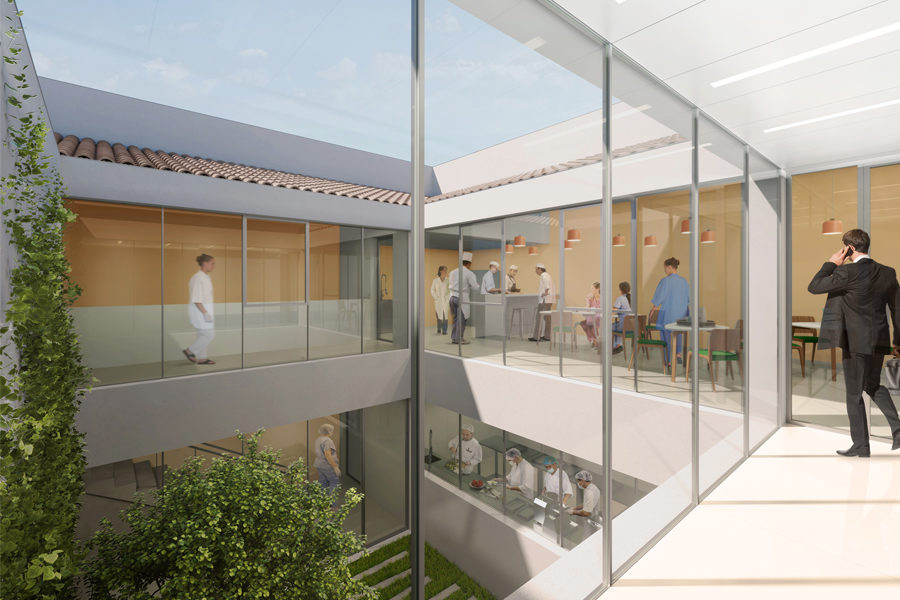 Leteissier Corriol - Agence d'architecture - Cuisine centrale Allauch 13