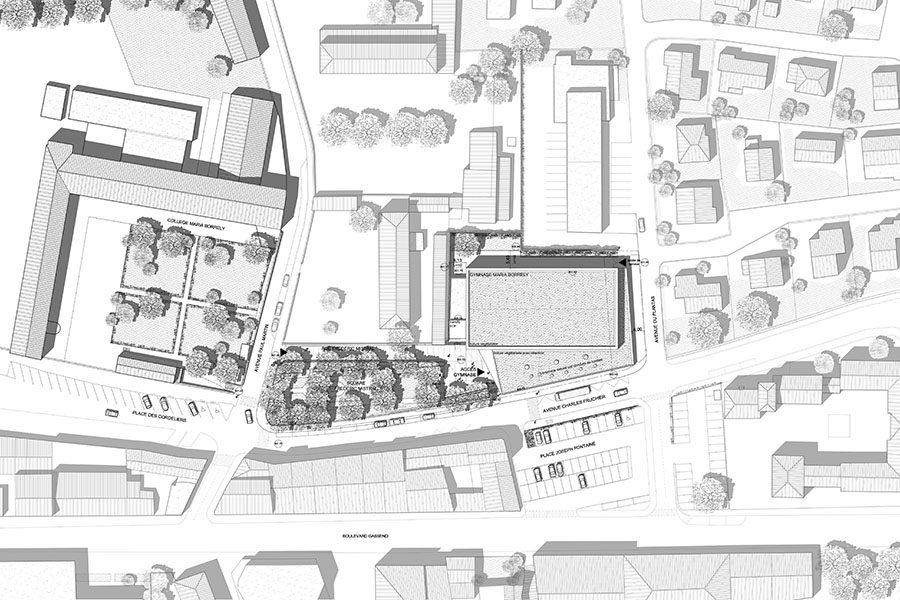 Leteissier Corriol - Agence d'architecture - Gymnase Borrely Digne-les-Bains 04