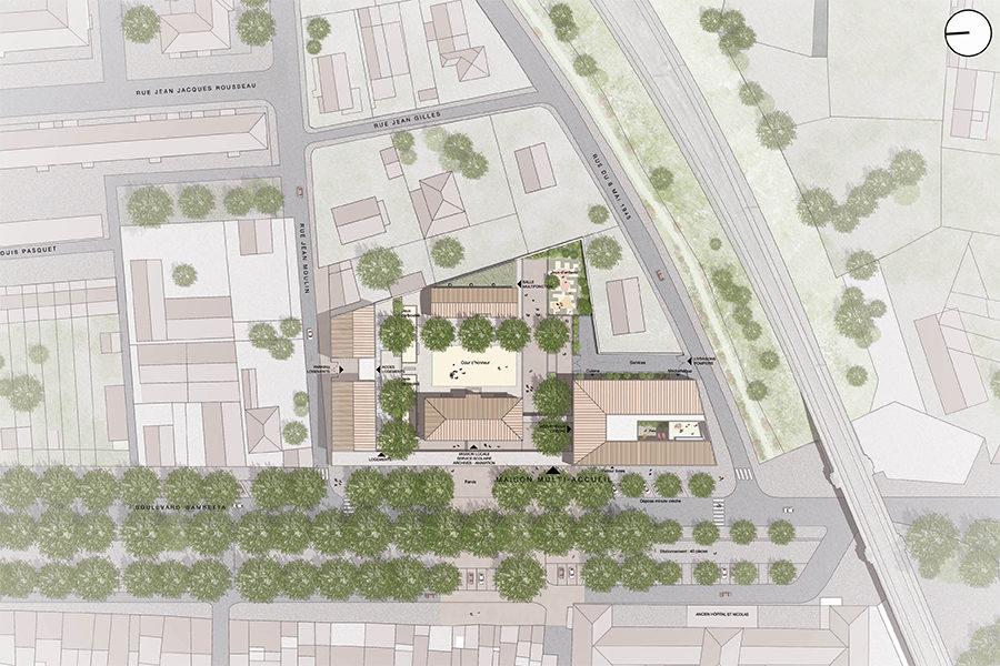 Leteissier Corriol - Agence d'architecture - Maison multi-accueil Tarascon 13