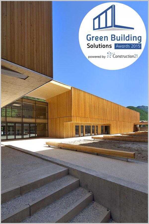 Leteissier Corriol - Agence d'architecture - Lauréat français GBS awards catégorie matériaux biosourcés 2015