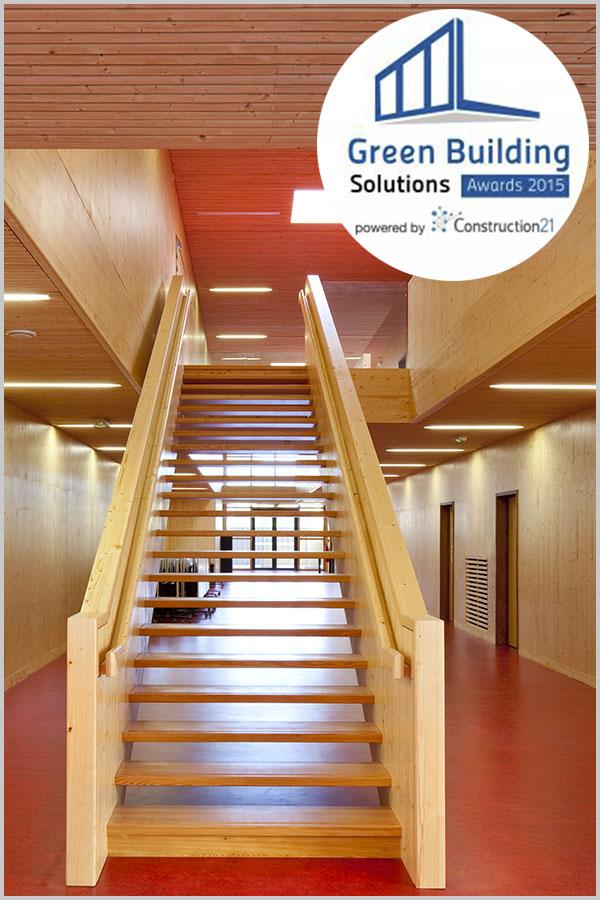 Leteissier Corriol - Agence d'architecture - Mention spéciale GBS awards catégorie énergies renouvelables 2015
