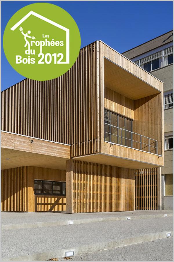 Leteissier Corriol - Agence d'architecture - Lauréat régional trophées du bois 2012 catégorie bâtiment tertiaire enseignement et jeunesse