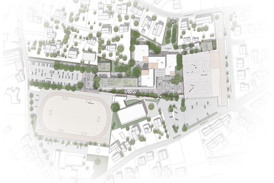 Leteissier Corriol - Agence d'architecture - Collège Les Hauts de l'Arc Trets 13