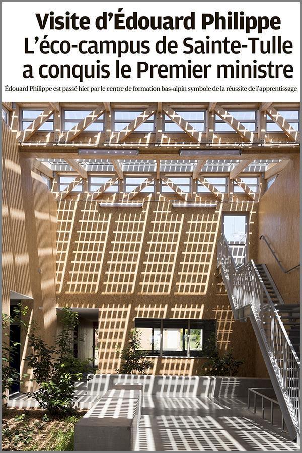 Leteissier Corriol - Agence d'architecture - La Provence, 15 novembre 2019