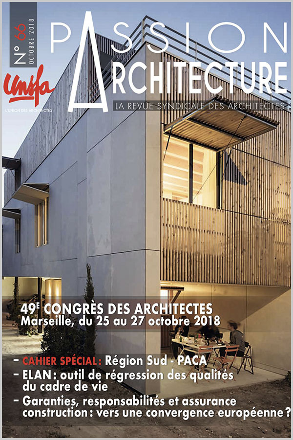 Leteissier Corriol - Agence d'architecture - Passion Architecture n°66 Octobre 2018