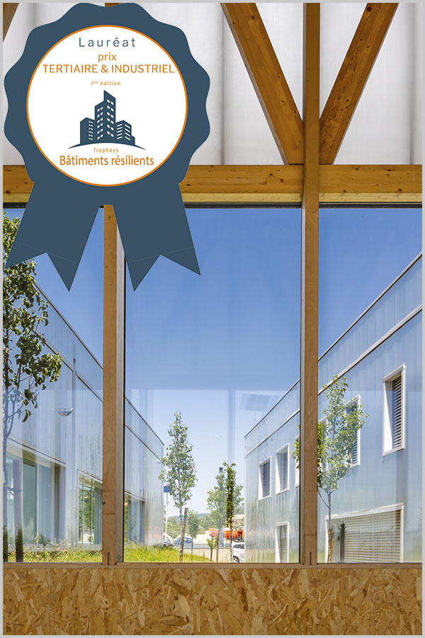 Leteissier Corriol - Agence d'architecture - Premier prix trophées bâtiments résilients 2020, catégorie «Tertiaire & industriel»