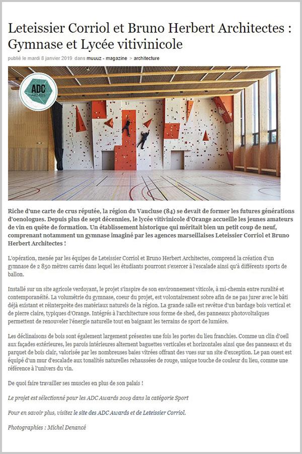 Leteissier Corriol - Agence d'architecture - Muuuz.com Janvier 2019