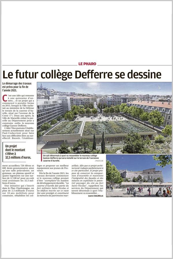 Leteissier Corriol - Agence d'architecture - La Provence 28 février 2020