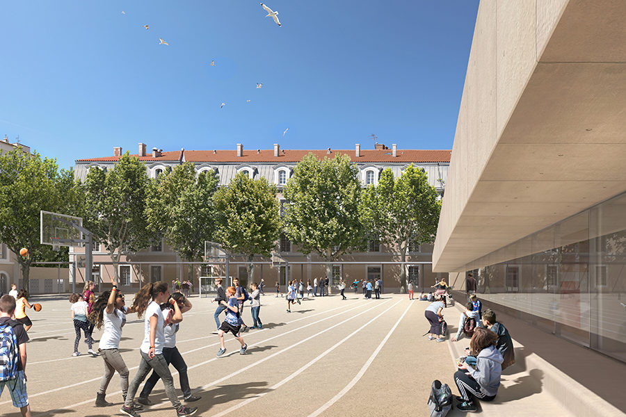 Leteissier Corriol - Agence d'architecture - Collège Gaston Defferre Marseille 13