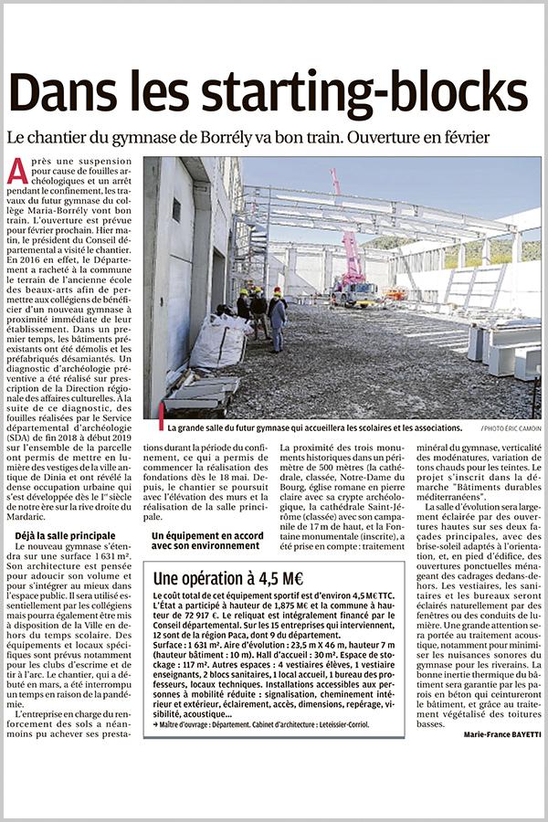 Leteissier Corriol - Agence d'architecture - La Provence 4 Octobre 2020
