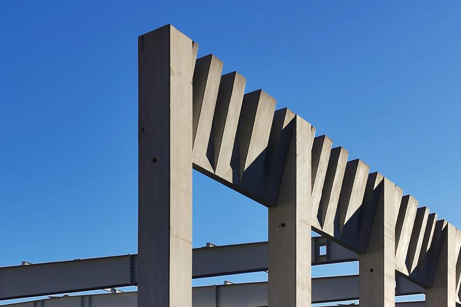 Leteissier Corriol - Agence d'architecture - Pose des préfabriqués