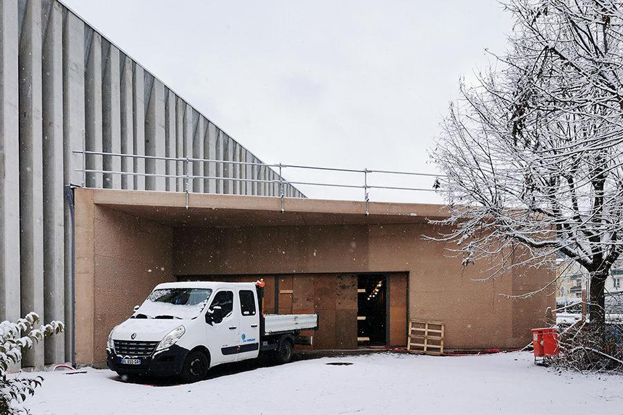 Leteissier Corriol - Agence d'architecture - Gymnase Borrely sous la neige